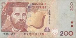 BILLETE DE ALBANIA DE 200 LEKE DEL AÑO 1996  (BANKNOTE) - Albanie