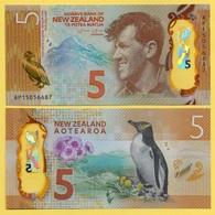 New Zealand 5 Dollars P-191 2015 UNC - Nouvelle-Zélande