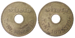 00971 GETTONE TOKEN JETON FICHA WASHING MACVHINE MIELE HOLED T. NR. 1699370 - Allemagne