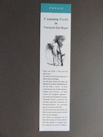 Marque-page - Poésie - F Comme Forêt De Françoise Dax-Boyer - Editions De L'Amandier - Paris - Marcapáginas