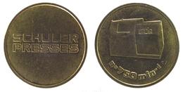 00117 GETTONE TOKEN JETON AZIENDALE ADVERTISING MINTING SCHULER PRESSES MOD. N 750 MIN-1 - Germany