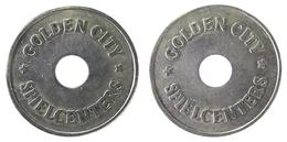 00781 GETTONE TOKEN JETON AZIENDALE GAMING PLAY MACHINE GOLDEN CITY SPIELCENTER SPIELMARKE HOLED - Germany