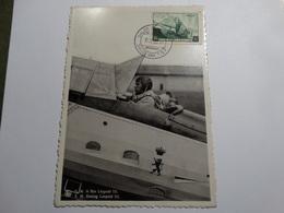Belgié/Belgique COB N°467 - Obl 08/03/1938 Sur Carte S.M Le Roi LéopoldIII(propagande Aeronautique) - ....-1951