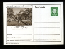 P 53 -10 Pfg Heuss II - Bild 101/638 - Mülheim An Der Ruhr - Natursolbad Raffelberg Mit Großem Kurpark - Cartes Postales Illustrées - Neuves