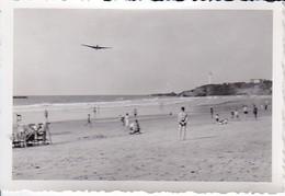 Foto Strand Von Biarritz - Flugzeug - Ca. 1940 - 8*5,5cm (37336) - Lieux