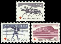 Finland, 1960, Motifs From Lapland, Set, MNH, Mi# 528/30 - Finlande