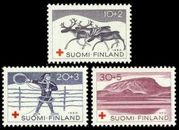 Finland, 1960, Motifs From Lapland, Set, MNH, Mi# 528/30 - Unused Stamps