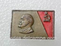 Anniversary Of Lenin / Heavy Metal Enamel Pretty Old Soviet Badge _120_VL0074 - Celebrities
