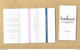 Carte Promo Avec 2 Rubans Ribbon Perfume Card LA VIE EST BELLE * BONHEUR A EMPORTER * LANCOME * R/V (sous Cello) - Perfume Cards