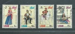 LIBAN  Yvert  PA N° 568 à 570  Oblitérés  SERIE COMPLETE  Costumes - Costumes
