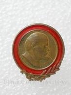 Anniversary Of Lenin / Heavy Metal Enamel Pretty Old Soviet Badge _120_VL0078 - Celebrities