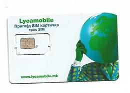 Macedonia Lycamobile SIM UNC - Macédoine