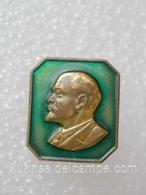 Anniversary Of Lenin / Heavy Metal Enamel Pretty Old Soviet Badge _120_VL0082 - Celebrities