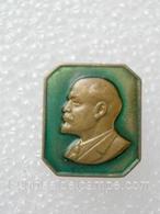 Anniversary Of Lenin / Heavy Metal Enamel Pretty Old Soviet Badge _120_VL0084 - Celebrities