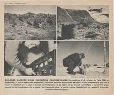 Gravure 20 X 24 - Expédition De Paul Emile VICTOR De L'été 1948 Au Groënland - Vieux Papiers