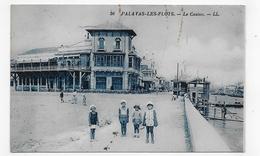 (RECTO / VERSO) PALAVAS LES FLOTS EN 1934 - N° 56 - LE CASINO AVEC ENFANTS - CPA VOYAGEE - Palavas Les Flots