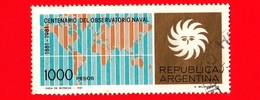 ARGENTINA - Usato -  1981 - 100 Anni Dell' Osservatorio Navale - 1000 - Argentina