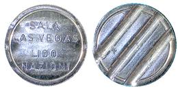 02589 GETTONE TOKEN JETON SALA GIOCHI ARCADE SALA LAS VEGAS LIDO NAZIONI EMILIA ROMAGNA - Unclassified