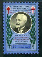 """Tuberculose Antituberculeux - Grand Timbre De 1934  """"5 Fr Pour La Santé"""" - Avec Pochette Neutre - Tout Petit Avec Tiret. - Erinnofilia"""