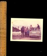 Photographie Originale : Famille Et Automobile Auto Voiture CITROEN AMI 8 à CREST VOLLAND 1962 - Automobiles