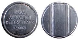 02588 GETTONE TOKEN JETON SALA GIOCHI ARCADE SALA ATTRAZIONI CENTRAL PARK RIMINI EMILIA ROMAGNA - Unclassified