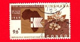 Repubblica Democratica Del CONGO - Usato - 1969 - Fiera Industriale Internazionale A Kinshasa - 9.6 - Repubblica Democratica Del Congo (1964-71)