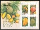 """1993 Singapore """"Bankk 93"""" Esposizione Filatelica Exhibition Exposition Frutta Fruit Block MNH** -13 - Frutta"""