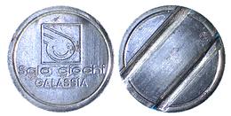 02584 GETTONE TOKEN JETON ARCADE SALA GIOCHI GALASSIA PESARO MARCHE - Unclassified