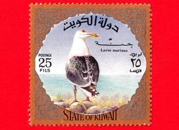 KUWAIT - Usato - Kuwait 1973 - Uccelli - Gabbiani - Larus Marinus - 25 - Kuwait