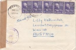 USA 195? - 5 Fach Frank.auf Zensur-Brief (mit Inhalt) Gel.v. Dayton > Wien - Vereinigte Staaten