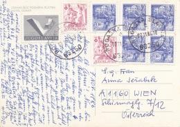 JUGOSLAWIEN 1986 - 8 Fach Frankierung Auf Ak ROGASKA Hotel Donat Gel.v. Rogaska > Wien - 1945-1992 Sozialistische Föderative Republik Jugoslawien