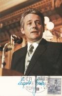 LEOPOLD GRATZ - Werbekarte Mit Gedr.Autogramm, Gel.1974 - Persönlichkeiten