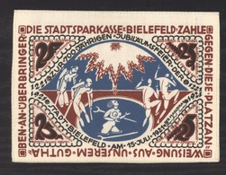 Bielefeld Notgeld 1921, Aus Seide Mit Werbung Huck Hebezeuge, 25 Mark - [11] Emissions Locales