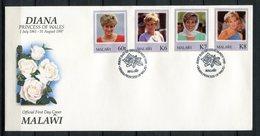 Malawi 1998. Yvert 678-81 FDC - Malawi (1964-...)