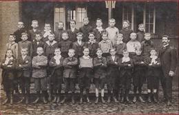 Gemeentelijke Basisschool Borgerhout 1908 - 1910 Klasfoto 3de Oude Foto Ecole Communale Prins Leopoldstraat - Antwerpen