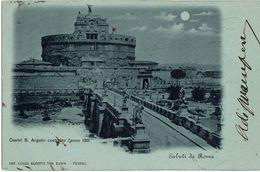 Cartolina Viaggiata 1900  - Annullo Senato Del Regno - Firma Sen. Antonino Di Prampero ( Udine ) ( 210 ) - Castel Sant'Angelo