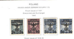 Polonia Occup. Germania PO 1940 Polish Em.1937 Ovpr. E Surch. .Scott.N.32 NEW See Scan On Scott.Page - 1939-44: 2ª Guerra Mundial