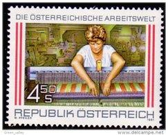 154 Austria 1991 Tissage Weaving MNH ** Neuf SC (AUT-290) - Textil