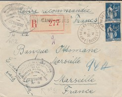 1940 CAMP DE GURS  CENSURE N°5  Rare  Lettre Recommandée  ELA74 - Marcofilia (sobres)