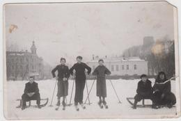 Vilnius žiemos Pramogos Prie Gedimino Kalno, 1940 Mažo Formato - Lituanie