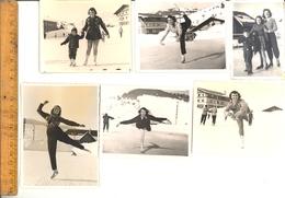 Photographie Originale X17 : Patinage Patineuse Patin à Glace Patinoire De MEGEVE Haute Savoie Patineuses Ice Skating - Lieux