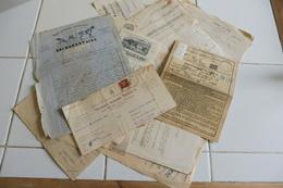 Lot Vieux Papiers Divers Bulletin Chemin De Fer 1882.....publicitaires Factures ... - France