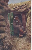 AK Am Telephon Im Schützengraben - Deutscher Soldat - Feldpost Reserve Lazarett III Bautzen - 1915 (37345) - Guerra 1914-18