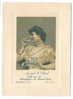 BISCUITS PERNOT - Avant Le Bal - édité Par La Manufacture Des Biscuits Pernot - Femme - Format 9.5 X 13 Cm - Advertising