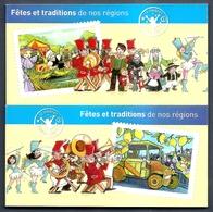 2011 Carnets Adhésifs(2) -Les Fêtes Et Traditions ( 1et 2 )- N° BC 566 Et 578 -NEUFS -LUXE ** NON Pliés - Booklets