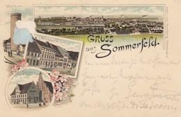 Sommerfeld,. Gruss Aus....Karte 1897 Gelaufen, Im Bild Links Mängel - Sommerfeld