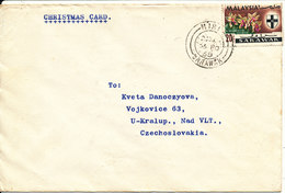 Malaysia Sarawak Cover Sent To Czechoslovakia Miri 25-11-1968 Single Franked - Malaysia (1964-...)