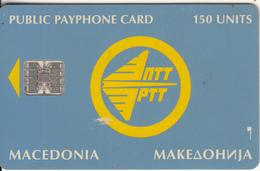 F.Y.R.O.M. - Telecom Logo, PTT Test Card 150 Units, Tirage 2000, 10/94, Used - Macedonia