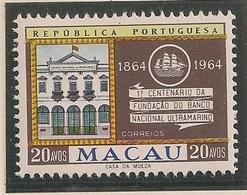 Macau Portugal China Chine 1964 - Centenario Do Banco Nacional Ultramarino - Set Complete - MNH/Neuf - Macau