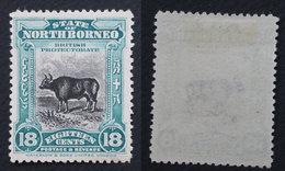North Borneo GB 1909-1911 18 C Neuf* Yver 141 - Nordborneo (...-1963)